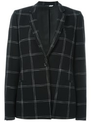 Paul Smith Ps Checked Print Blazer Black