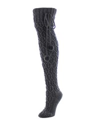 Legmogue Inter Diamond Knee High Socks Dark Grey