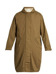 Christophe Lemaire Oversized Cotton Blend Parka Brown