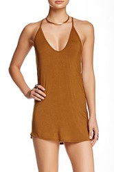 Riller And Fount Joseph Spaghetti Racerback Layering Tank Brown