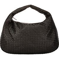 Bottega Veneta Women's Intrecciato Maxi Hobo Black Blue Black Blue