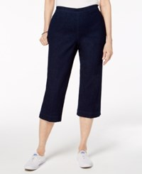 Alfred Dunner Petite America's Cup Denim Pull On Cropped Pants