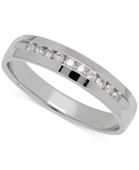 Macy's Men's Diamond Band In 14K White Gold 1 4 Ct. T.W.