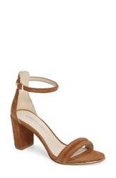 Kenneth Cole Women's New York 'Lex' Ankle Strap Sandal Cognac Suede