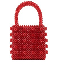 Shrimps Antonia Beaded Tote Red