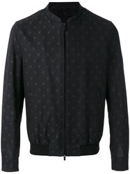 Fendi Embroidered Bomber Jacket Black