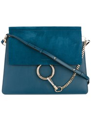 Chloe Cross Body Bag Women Calf Leather Calf Suede One Size Blue