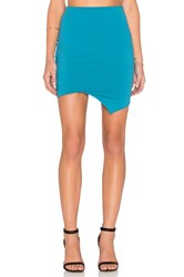 Donna Mizani Crossover Mini Skirt Teal