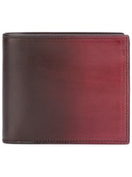 Officine Creative Boudin Bi Fold Wallet Unisex Calf Leather One Size Red