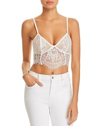 Tiger Mist Emery Lace Bustier Cropped Top White