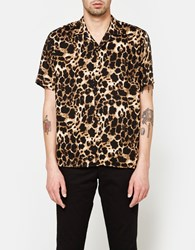 Gitman Brothers Vintage Rayon Leopard Ss Camp Shirt
