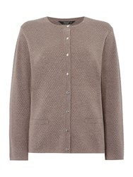 Tigi Textured Cardigan Brown