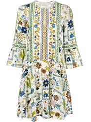 Tory Burch All Over Print Dress White