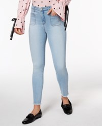 Maison Jules Frayed Skinny Jeans Created For Macy's Avalon Wash