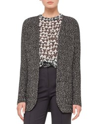 Akris Cotton Tweed Long Sleeve Cardigan