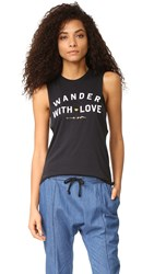 Spiritual Gangster Wander With Love Tank Vintage Black