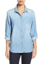 Women's Cj By Cookie Johnson 'Concept' Patch Pocket Chambray Shirt
