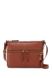 Fossil Erin Leather Crossbody Brown
