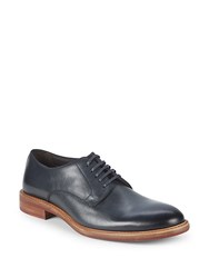 Bruno Magli Roomba Leather Derby Shoes Navy