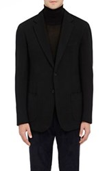 Cifonelli Men's Wool Blend Two Button Sportcoat Black