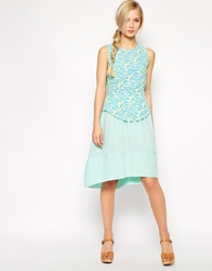 Dress Gallery Paolina Silk Skater Skirt Mint