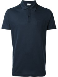Sunspel 'Riviera' Polo Shirt Blue