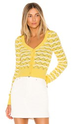 Majorelle Zoe Cardigan In Yellow. Yellow And White