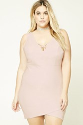 Forever 21 Plus Size Metallic Dress Light Pink