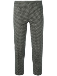 Piazza Sempione Audrey Cropped Trousers Green