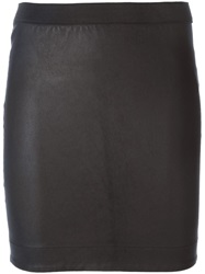 Bydanie Fitted Mini Skirt Black