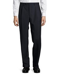 Lauren Ralph Lauren Striaght Leg Wool Pants Navy
