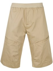 Les Hommes Classic Fitted Shorts Brown