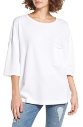 Women's Bp. Oversize Fleece Tee White