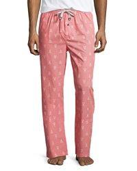 Psycho Bunny Woven Polka Dot Lounge Pants Red