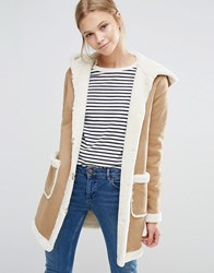 Vila Shearling Coat Dusty Camel Beige
