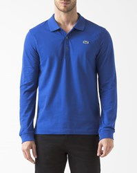 Lacoste Royal Blue Long Sleeve Polo