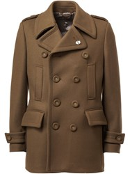 Wooster Lardini Double Breasted Peacoat Green