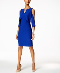 Sangria Flutter Flyaway Sheath Dress Cobalt
