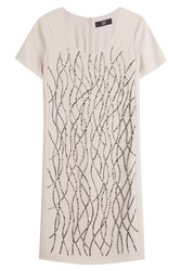 Steffen Schraut Embellished Shift Dress Beige