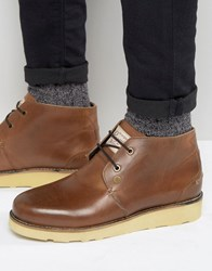 Original Penguin Chukka Boots In Brown Leather Tan