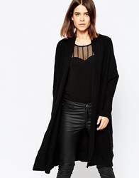 Y.A.S Elisa Long Knit Cardigan Black