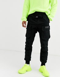 Sixth June Wide Cuffed Utility Pant In Black