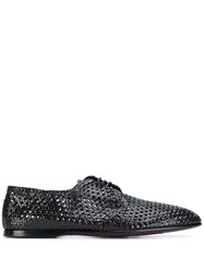 Dolce And Gabbana Woven Brogues Black