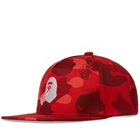 A Bathing Ape X Coca Cola Camo Snapback Red