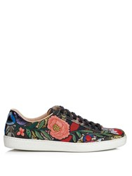 Gucci Ace Low Top Floral Jacquard Trainers Multi