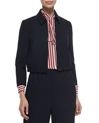Red Valentino Cropped Zip Front Jacket