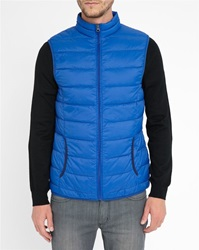 M.Studio Royal Blue Anatole Ultralight Down Jacket With Navy Details
