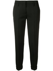 Aspesi Tailored Cropped Trousers Black