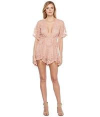 Brigitte Bailey Starsailor Lace Romper Blush Women's Jumpsuit And Rompers One Piece Pink