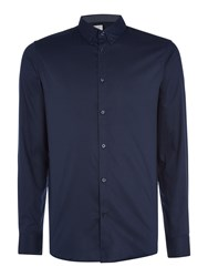 Selected Mark Pinpoint Oxford Shirt Navy